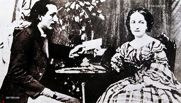 Jan Neruda a jeho první láska Anna Holinová