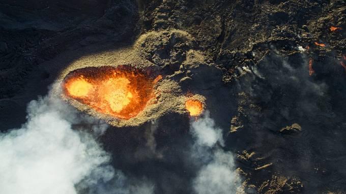 3. místo v kategorii příroda: Vulkán Piton de la Fournaise na ostrově Réunion