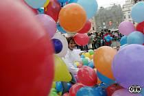 Pouťové balonky. Ilustrační foto