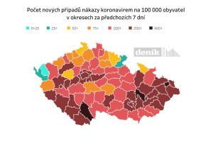 PŘEHLEDNĚ: Odkud se šíří v Česku covid. Rizikové jsou školy, zejména na Moravě