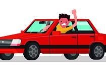 Agresivní řidič. Ilustrační foto