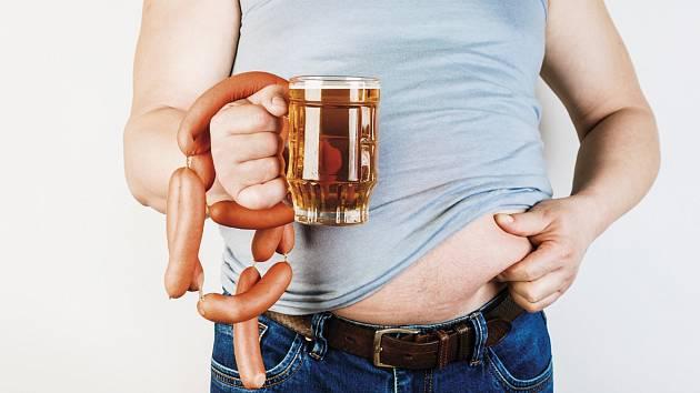 Obezita. Ilustrační foto.