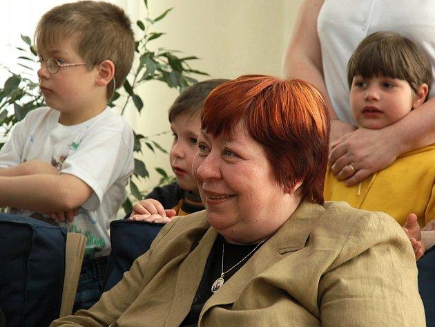Zuzana Paroubková na návštěvě v Žatci.