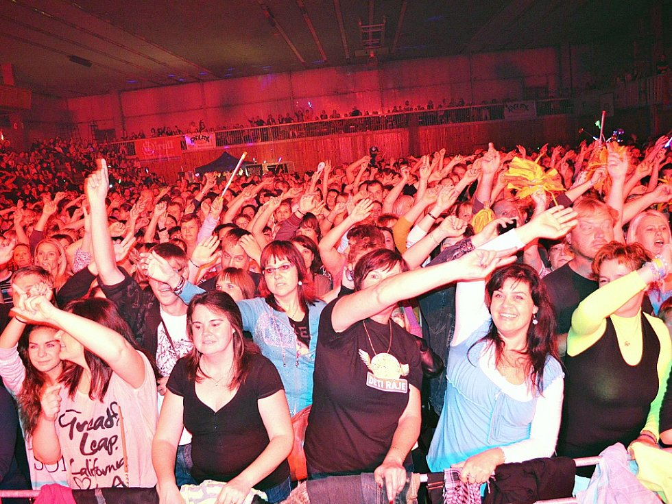 Koncert popové hvězdy Michala Davida v Lounech.
