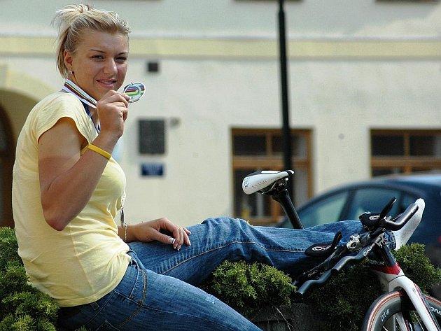 Blšanská cyklistka Lucie Záleská