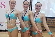 Úspěšné lounské juniorské trio.