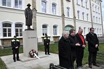 Připomínka 170. výročí narození T. G. Masaryka v Lounech
