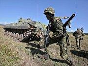 Armádní cvičení Dukla spirit 2018 ve vojenském prostoru Hradiště