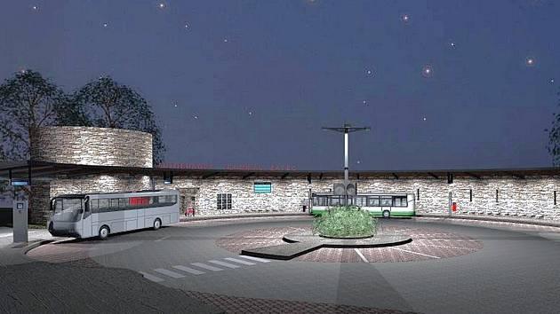 Vizualizace nové podoby autobusového nádraží.
