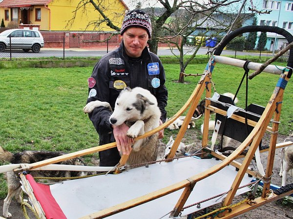 Roman Habásko a jeho psi.