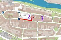 Návrh dopravních změn v centru Loun počítá s jednosměrnými ulicemi Žatecká a Hilbertova a se zákazem vjezdu do části Mírového náměstí.