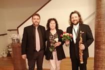 Felix Slováček jr. - soprán saxofon, Jiří Knotte - klavír.