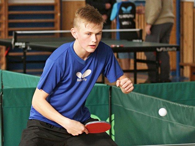 Žatecký stolní tenista Filip Karbula.