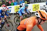Závod juniorů na MS cyklokrosařů ve švýcarském Dübendorfu. V modré helmě lounský Pavel Jindřich.