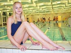 Žatecká plavkyně Jitka Hornofová