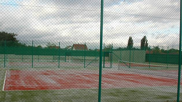 Takto vypadaly nové tenisové kurty v areálu Tatranu v roce 2008