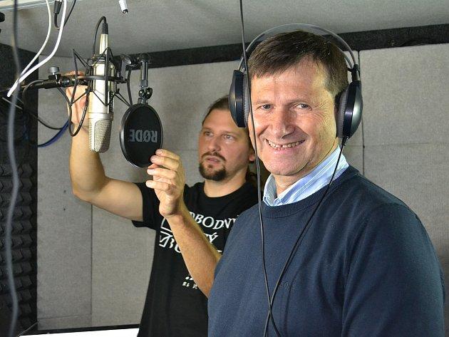 Jan Hrušínský (vpředu) a Jiří Soukup ze ZUŠ Louny