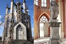 Novogotický templ v krásnodvorském zámeckém parku