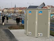 Nové bikeboxy u lounského autobusového nádraží