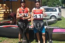 Vladimír Slanina starší a Vladimír Slanina mladší na závodech v německém Augsburgu