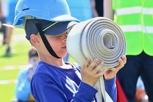 Mladí hasiči z celého okresu Louny se utkali v Dobroměřicích v celostátní hře Plamen.