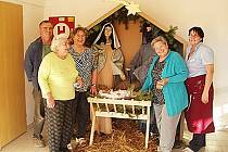 Obyvatelé podbořanského domova pro seniory si dokonce připravili i betlém.