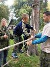 Děti si mohly vyzkoušet svou obratnost.