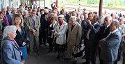 Božena Krejčová vzpomíná na žateckém nádraží na cestu do města v únoru roku 1947.