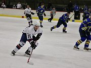 Finálové utkání Slovanu Louny (v bílém) proti Roudnici