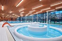 Městská plavecká hala v Lounech získala cenu Stavba roku 2021.