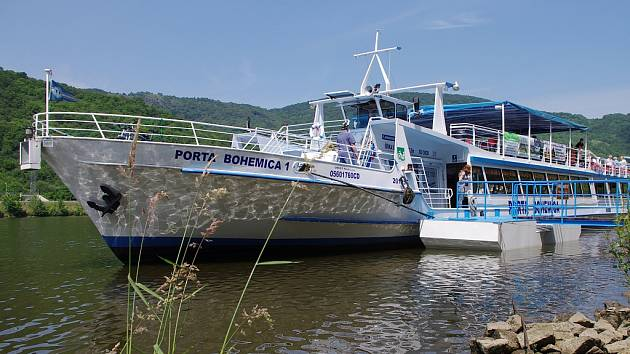Loď Porta Bohemica na archivním snímku