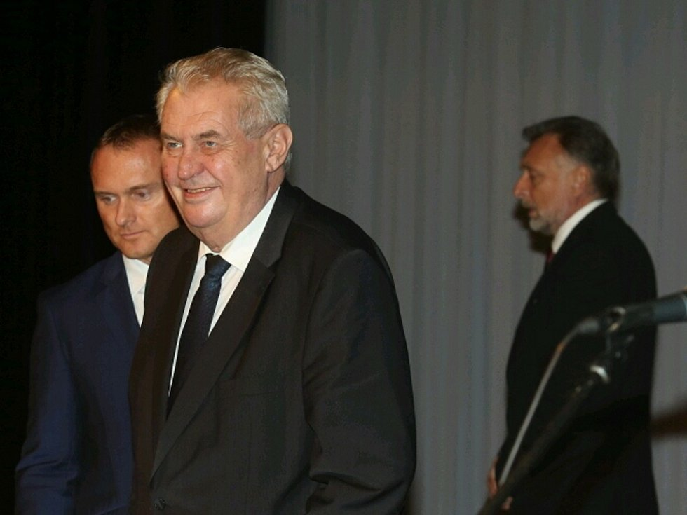 Prezident Miloš Zeman navštívil Louny.