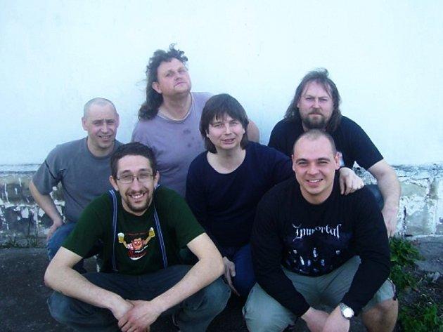 Kapela Fog Of Grey: Lumír, Tomáš, Jan, Zbyšek, Martin a Pavel (zleva)