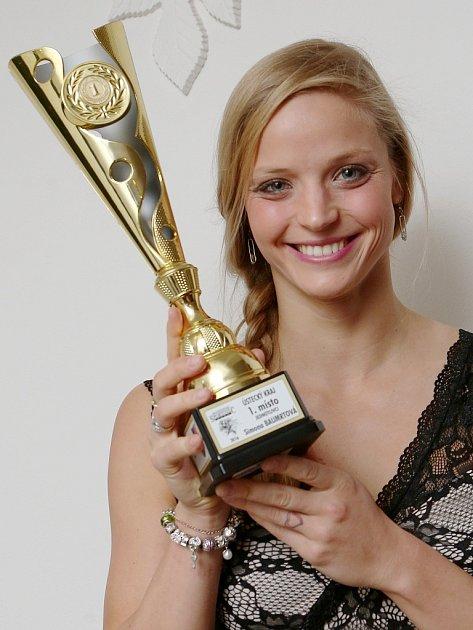 Simona Baumrtová strofejí pro nejúspěšnějšího sportovce Ústeckého kraje za rok 2016