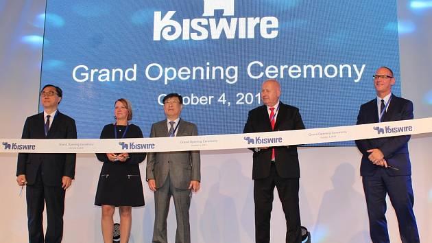 Slavnostní otevření druhé haly společnosti Kiswire v zóně Triangle.