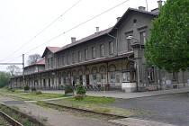 Hlavní nádraží v Žatci.