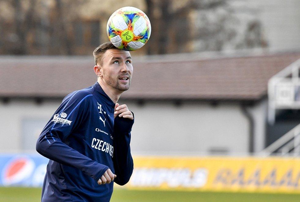 Jaromír Zmrhal na tréninku české reprezentace.