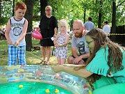 Dobrodění 2016. Pro děti byla připravena spousta her a soutěží