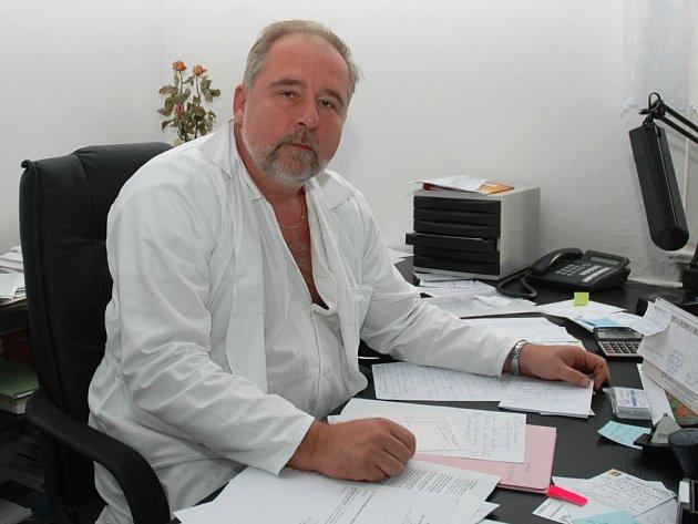 MUDr. Zdeněk Bergl, ředitel žatecké nemocnice.