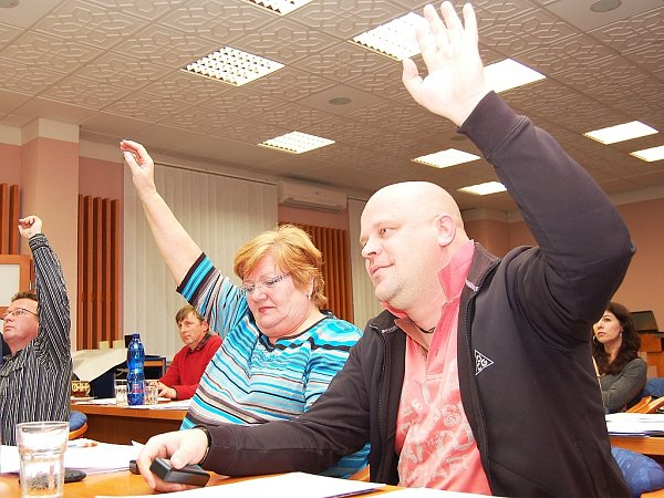 Hlasování podbořanských zastupitelů