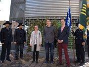 Členové Chmelobrany, starostka Zdeňka Hamousová, ředitel Chrámu Ondřej Baštýř a Zdeněk Rosa, předseda představenstva Chmelařství Žatec