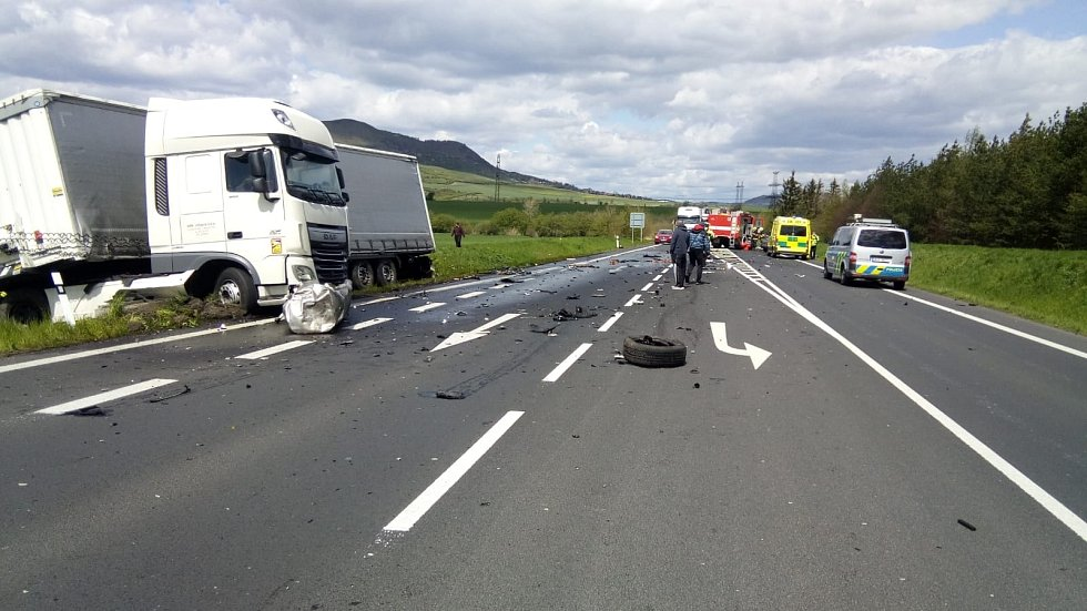 Nehoda u Dobroměřic.
