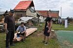 Jaroslav Petráň ze Stebna. Bouře mu poničila dům, stodolu, zdevastovala zahradu.