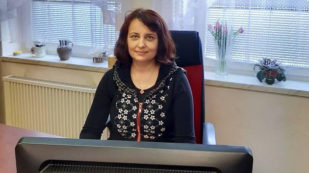 Starostka obce Žiželice Helena Makuková.