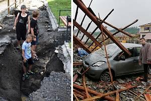 Povodně na Šluknovsku, bouře ve Stebnu.