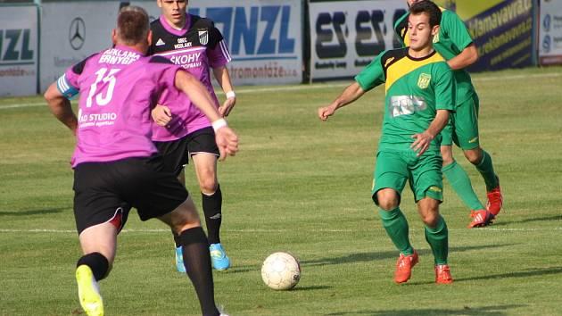 Utkání Žatce (v zeleném) proti týmu Modlan