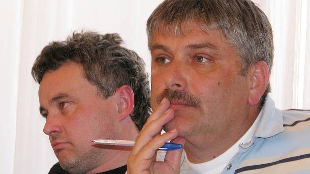 Členové rady města Radek Růžička (vlevo) a Pavel Aschenbrenner (oba ODS).
