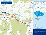 Mapka ukazuje, kudy povede silniční obchvat Lubence.
