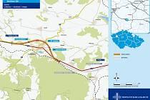 Mapa ukazuje, kudy povede obchvat Lubence na dálnici D6