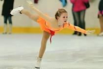 Kateřina Plíšková získala na soutěži Ledový trojlístek v Černošicích u Prahy stříbro v kategorii Přípravka II.